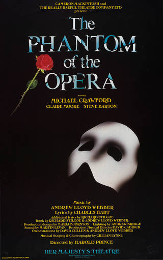 Poster for Andrew Lloyd Webber's 'The Phantom of the Opera', designed and printed by Dewynters Ltd.,1987, England. Museum no. S.2750-1994. © Victoria and Albert Museum, London