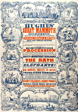 Poster for Hughes' Circus, printed by J. W. Peel, about 1846, England. Museum no. S.3776-1995. © Victoria and Albert Museum, London