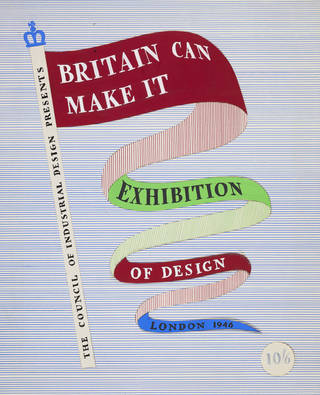 Ashley Havinden, preliminary design for the Britain Can Make It exhibition catalogue or guide, 1946, National Galleries of Scotland. Presented by the artist's family, 1994