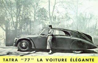 Tatra '77' advertisement, 1934. Wikimedia Commons