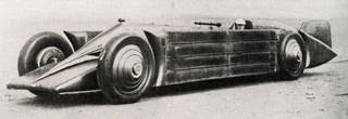 The Irving-Napier Golden Arrow, Henry Segrave's world record in 1929, published in Le Sport Universel Illustré, 23 March 1929, p.192. Wikimedia Commons