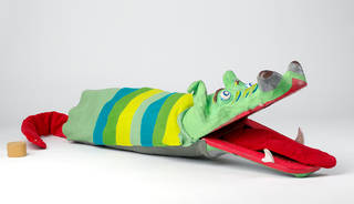 Crocodile glove puppet, Paul Hansard, 1939, UK. Museum no. S.1182-2011. © Victoria and Albert Museum, London