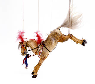 Marionette of a circus horse, Mary Shillabeer, about 1980, Scotland. Museum no.  S.142-1993. © Victoria and Albert Museum, London