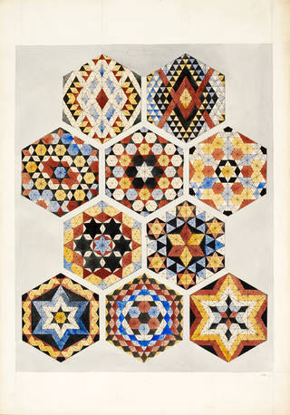 Designs for tiles in Islamic style, Owen Jones, about 1840 – 50, Britain. Museum no. 8115:5. © Victoria and Albert Museum, London