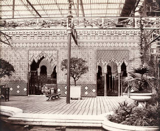 The Alhambra Court at Crystal Palace, south London, designed by Owen Jones, photograph by Philip Henry Delamotte, 1854, London. Museum no. 39315. © Victoria and Albert Museum, London