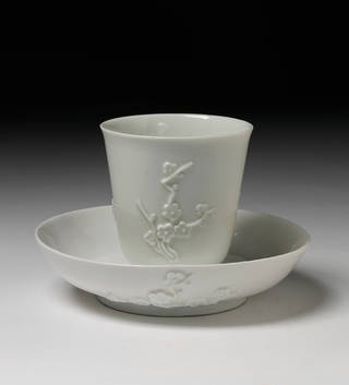 Beaker and saucer, Meissen porcelain factory, 1726 – 27, Germany. Museum no. C.450&A-1922. © Victoria and Albert Museum, London