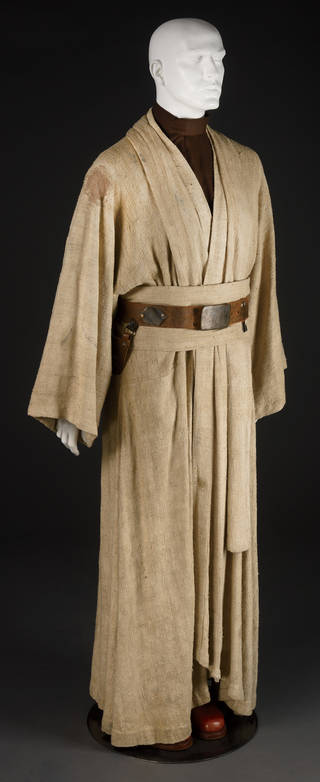 Costume for Obi-Wan Kenobi - long cream/brown kimono with a dark brown belt