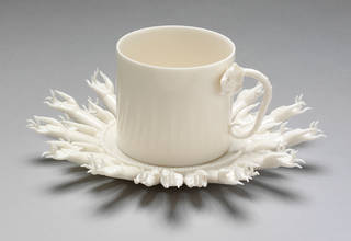 Cup and saucer, designed by Peter Ting, 2010, Dehua, China. Museum no. FE.52:1,2-2012. © Victoria and Albert Museum, London