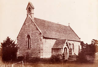 Photograph of Bredicot Church by Benjamin Brecknell Turner, 1852 – 54, England. Museum no. PH.24-1982. © Victoria and Albert Museum, London