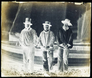 Three Fishermen, photograph by Benjamin Brecknell Turner, waxed calotype negative, about 1849, England. Museum no. E.4-2009. © Victoria and Albert Museum, London