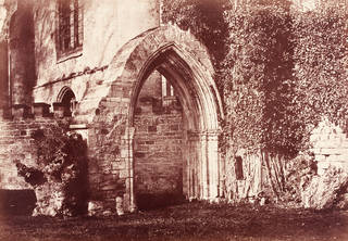 Old Doorway, Pershore Abbey, photograph by Benjamin Brecknell Turner, albumen print from calotype negative, 1852 – 54, England. Museum no. PH.9-1982. © Victoria and Albert Museum, London