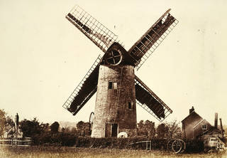 Windmill, Kempsey, Worcestershire, photograph by Benjamin Brecknell Turner, albumen print from paper negative, 1852 – 54, England. Museum no. PH.10-1982. © Victoria and Albert Museum, London