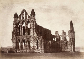 Whitby Abbey, Yorkshire, from the North East, photograph by Benjamin Brecknell Turner, albumen print from Calotype negative, 1852 – 54, England. Museum no. PH.47-1982. © Victoria and Albert Museum, London