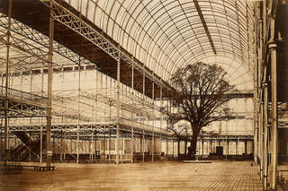 Crystal Palace Transept, Hyde Park, photograph by Benjamin Brecknell Turner, albumen print from Calotype negative, about 1852, England. Museum no. PH.1-1982. © Victoria and Albert Museum, London