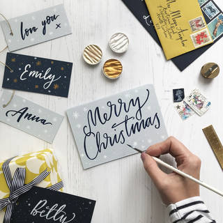 Christmas Brush Lettering photo