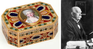 Left to right: Snuffbox, made by Johann Christian Neuber, about 1780, probably Dresden, Germany. Museum no. LOAN:GILBERT.350-2008. © Victoria and Albert Museum, London; Eugen Gutmann. © Bundesarchiv Berlin