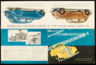 Brochure advertising the Aero-Dynamic Hupmobile Series 518 by Hupp Motor Car Company, 1935, Detroit, United States. Museum no. E.1322-1989. © Victoria and Albert Museum, London