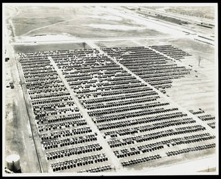 Employees' cars at Ford Factory, photograph by Robert A. Smith, 1936, Detroit, US. Museum no. RPS.2463-2017. © Victoria and Albert Museum, London