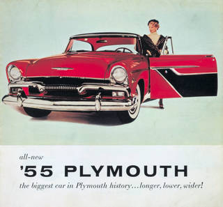 Brochure advertising a new car from the manufactures Plymouth, maker unknown, 1955, US. Museum no. E.1326-1989. © Victoria and Albert Museum, London