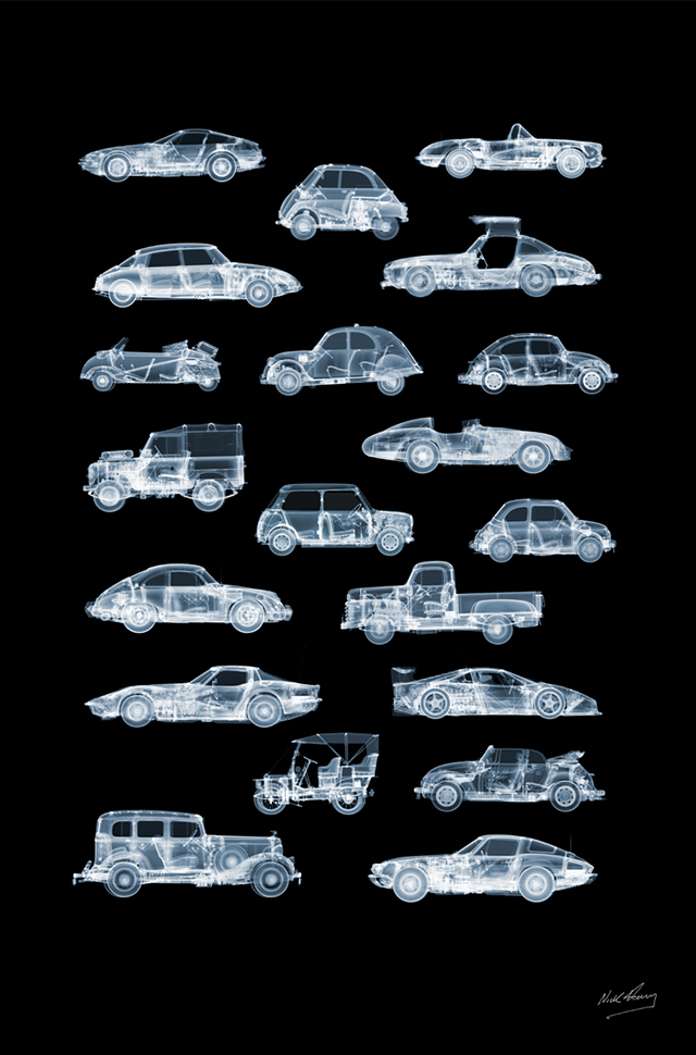 20 Cars to View X-ray photograph poster by Nick Veasey