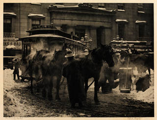 'The Terminal', photograph by Alfred Stieglitz, 1892, New York. Museum no. RPS.2352-2017. © Victoria and Albert Museum, London