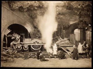 Photographic print of Act 3, Scene 6 from The Whip, Drury Lane Theatre, London, 1909. Museum no. S.211-2016. © Victoria and Albert Museum, London
