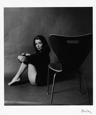 Photograph of Christine Keeler by Lewis Morley, gelatin silver print, England, 1963. Museum no. E.2-2002. © Victoria and Albert Museum, London/Lewis Morley