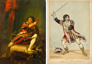 (Left to right) John Philip Kemble as Richard III by William Shakespeare, painting by William Hamilton RA, after 1788, England. Museum no. DYCE.75. © Victoria & Albert Museum, London; Portrait of Edmund Kean in the role of Richard III, published in London by S. Knight on 22 March 1814, London, England. Museum no. S.2183-2009. © Victoria & Albert Museum, London