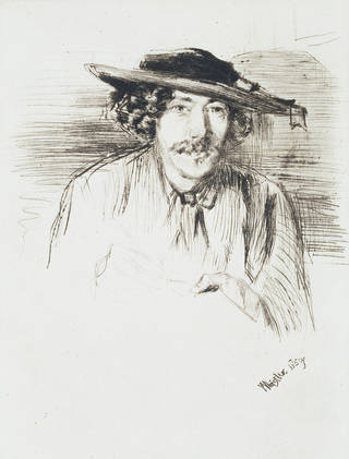 Self-portrait, etching, James Abbott McNeill Whistler, 1859. Museum no.  19799. © Victoria and Albert Museum, London