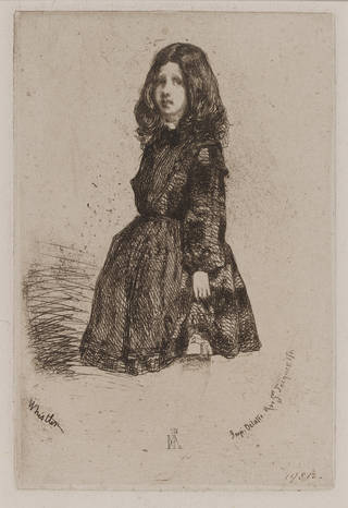 Annie, etching, James Abbott McNeill Whistler, 1858, England. Museum no. 19812. © Victoria and Albert Museum, London