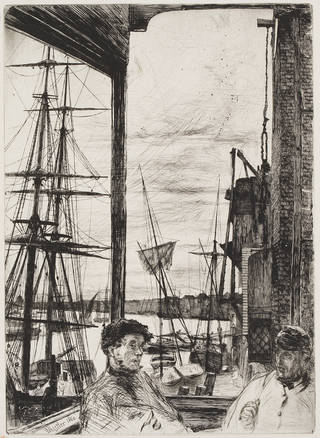 Rotherhithe, etching, James Abbott McNeill Whistler, 1860, England. Museum no. CAI.139. © Victoria and Albert Museum, London