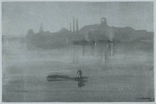 Nocturne: the River at Battersea, lithograph, James Abbott McNeill Whistler, 1878, England. Museum no. E.1517-1905. © Victoria and Albert Museum, London