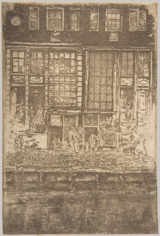 The Embroidered Curtain, etching, James Abbott McNeill Whistler, 1889, the Netherlands. Museum no. CIRC.75-1969. © Victoria and Albert Museum, London