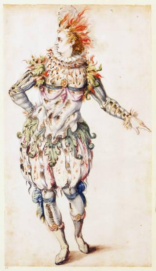 Costume design, Inigo Jones, 1613. © Victoria and Albert Museum, London
