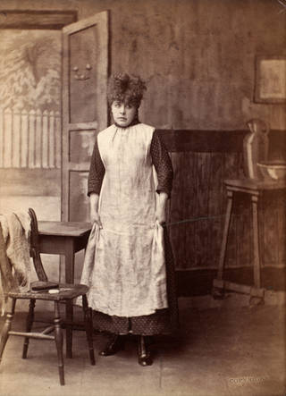 Photograph of Marie Wilton as Nan in 'Good for Nothing' at the Prince of Wales Theatre, London, 1879. Museum no. S.142:165-2007. © Victoria and Albert Museum, London