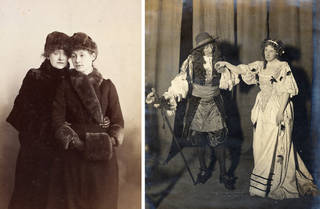(Left to right) Photograph of Ellen Terry and Edith Craig, late 19th century, Britain. Museum no. S.133:511-2007. © Victoria and Albert Museum, London; The Pioneer Players production of 'The First Actress', Kingsway Theatre, London, 1911. © Victoria and Albert Museum, London
