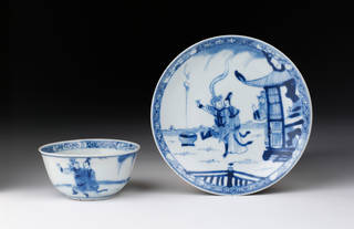 Teabowl and saucer, unknown maker, about 1725, China. Museum no. FE.36:1-2007. © Victoria and Albert Museum, London