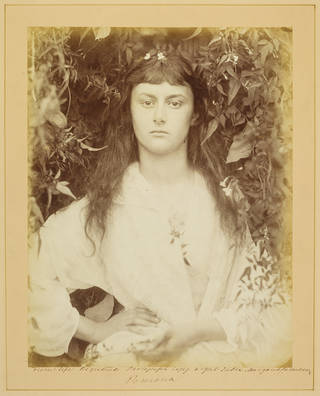 Pomona, photograph of Alice Liddell, by Julia Margaret Cameron, 1872, England. Museum no. RPS.1271-2017. © Victoria and Albert Museum, London