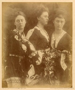 Lorina, Edith and Alice Liddell, photograph by Julia Margaret Cameron, about 1872, England. Museum no. RPS.713-2017. © Victoria and Albert Museum, London