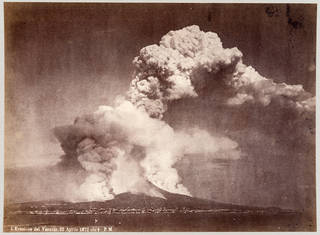 Photograph of the eruption of Mount Vesuvius in 1872, unknown photographer, 1872, Italy. Museum no. 2883-1925. © Victoria and Albert Museum, London