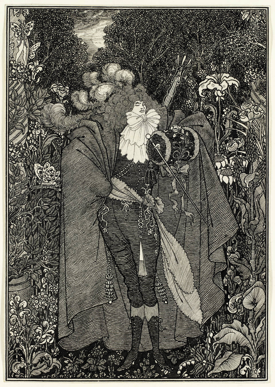 Aubrey Beardsley, Abbé ('Under the Hill'), published in The Savoy in 1896. © Victoria and Albert Museum, London
