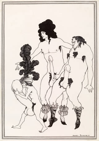 Drawing, 'The Lacedaemonian Ambassadors', illustration for 'Lysistrata', by Aubrey Beardsley, 1896, England. Museum no. E.301-1972. © Victoria and Albert Museum, London
