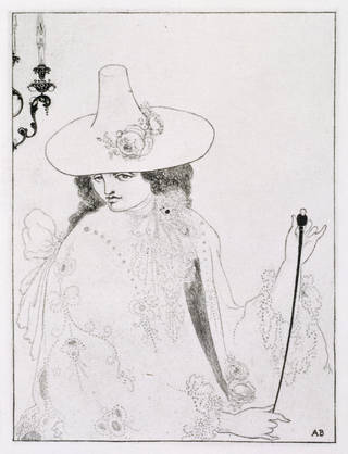 Print, 'D'Albert' (a vignette) from 'Mademoiselle de Maupin', by Aubrey Beardsley, 1897, Britain. Museum no. E.417-1972. © Victoria and Albert Museum, London
