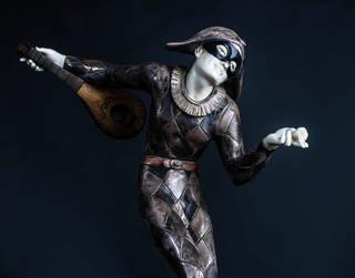 Harlequin Statue