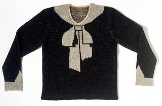 Cravat jumper, designed by Elsa Schiaparelli, 1927, France. Museum number: T.388-1974. © Victoria and Albert Museum, London