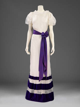 Summer evening dress, The Parachute Collection, designed by Elsa Schiaparelli, 1936, France. Museum no. T.42:1 to 3-2010. © Victoria and Albert Museum, London