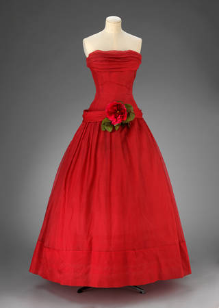 Fête Joyeuse, dress, Christian Dior, 1955, France. Museum no. T.81-1970. © Victoria and Albert Museum, London. Given by Lady Glenconnor