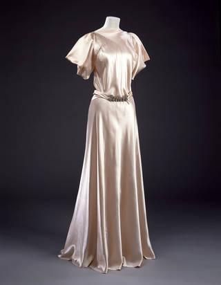 Satin evening dress, Madeleine Vionnet, 1932 – 34, France. Museum no. T.203&A-1973. © Victoria and Albert Museum, London