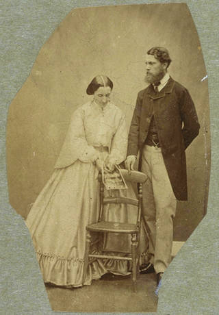 Possibly self portrait of  Lady Clementina Hawarden with Donald Cameron of Lochiel, about 1861 – 62, England. Museum no. 457:423-1968. © Victoria and Albert Museum, London