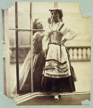 Clementina Maude and Isabella Grace, photograph by Lady Clementina Hawarden, about 1864, England. Museum no. 366-1947. © Victoria and Albert Museum, London